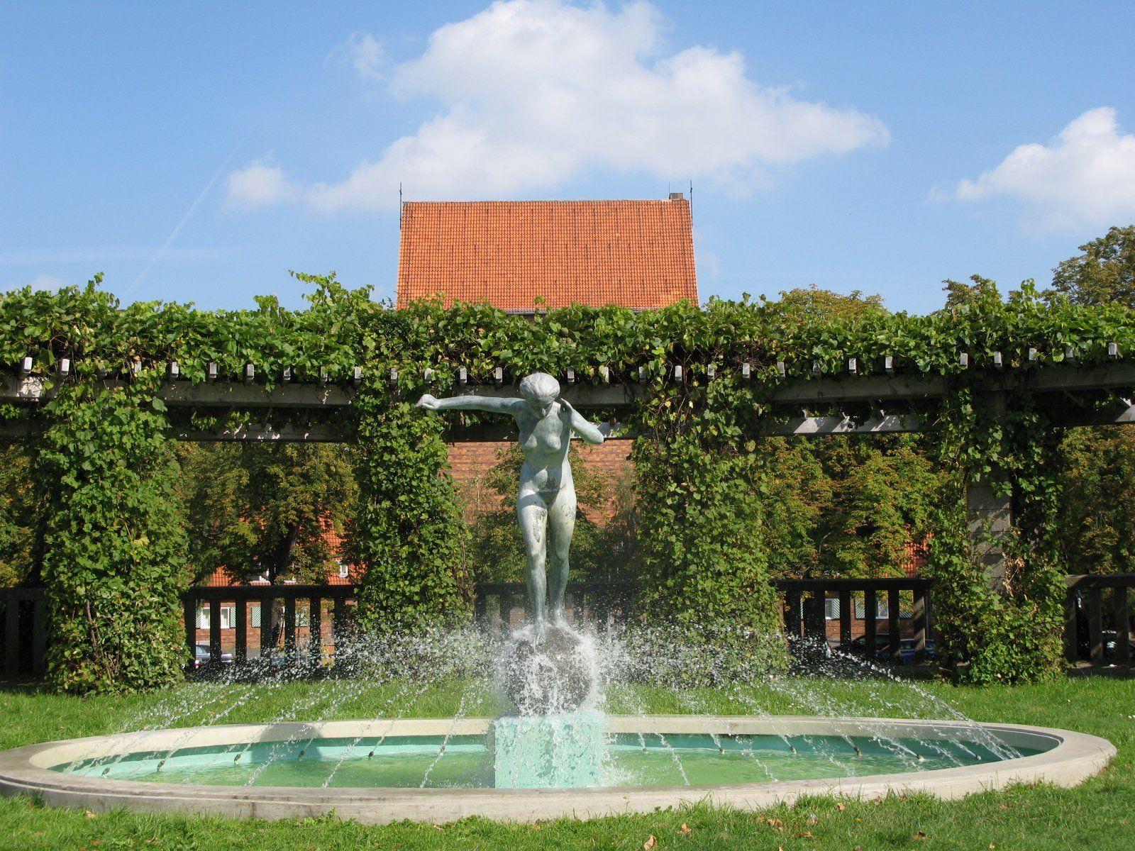 Am Springbrunnen