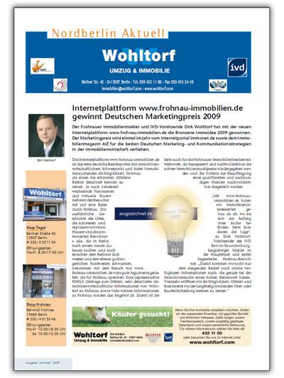 Kundenzeitung Sommer 2009