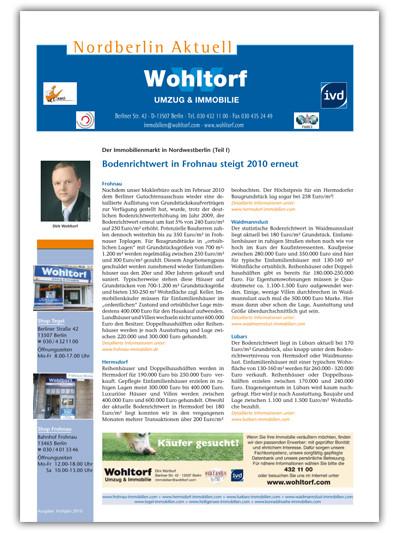 Kundenzeitung Frühjahr 2010