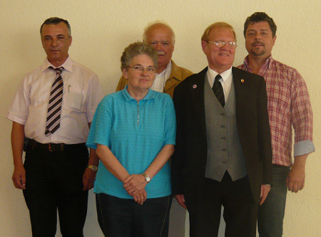 V. l. n. r.: Thomas Harder, Ursula Schade, Werner Daume, Wolfgang Rühlmann, Viktor Brosko