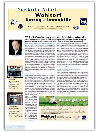 Kundenzeitung Winter 2008/2009