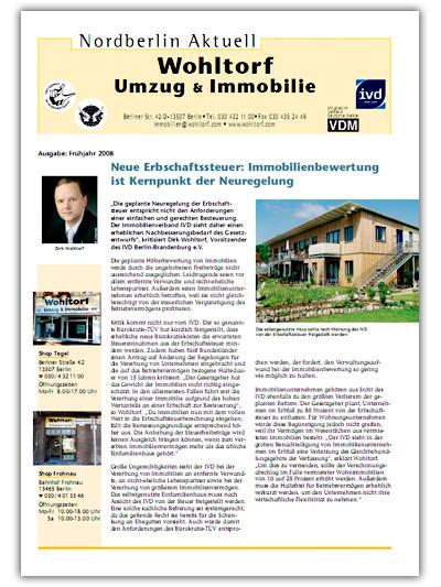 Kundenzeitung Frühjahr 2008