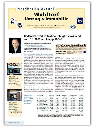Kundenzeitung Frühjahr 2009